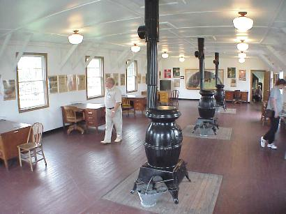 Reconditioned office area at Ft. McCoy Museum, Sept. 7, 2001
