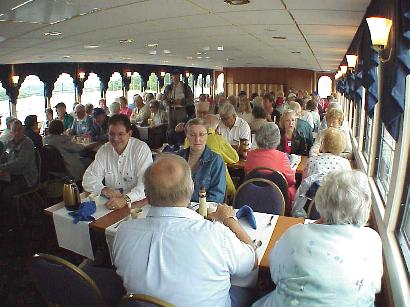 Dining aboard the LaCrosse Queen, Sept. 8, 2001