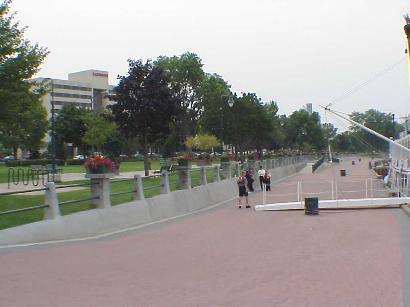 Riverwalk outside Raddison Hotel, Sept. 8, 2001