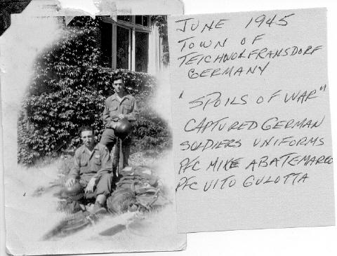 June 1945, Teichworfransdorf, Germany.